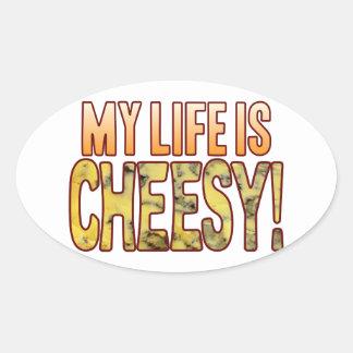 My Life Blue Cheesy Oval Sticker
