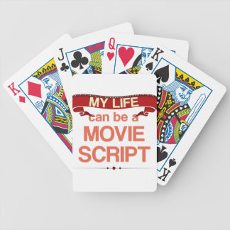 My Life can be a Movie Script Poker Deck