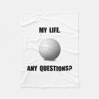 My Life Golf Fleece Blanket
