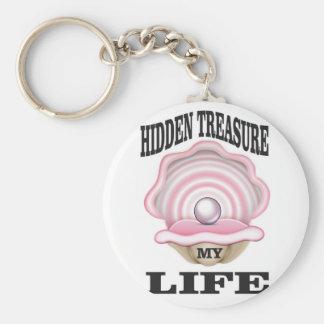 my life hidden treasure keychain