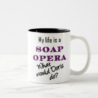 My Life is a Soap Opera Doris Mug Large