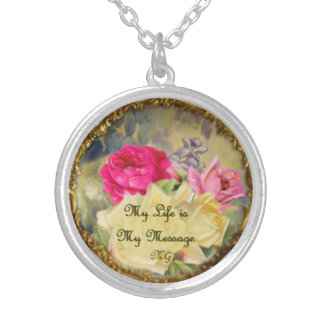 My Life is My Message Silver Plated Necklace