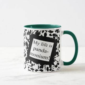 My life is panda-monium mug