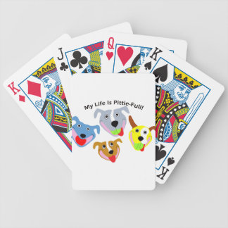 My Life is Pittie-full Bicycle Playing Cards