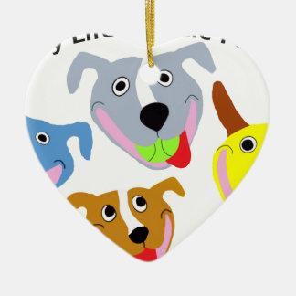 My Life is Pittie-full Ceramic Heart Ornament