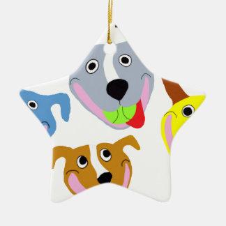 My Life is Pittie-full Ceramic Star Ornament