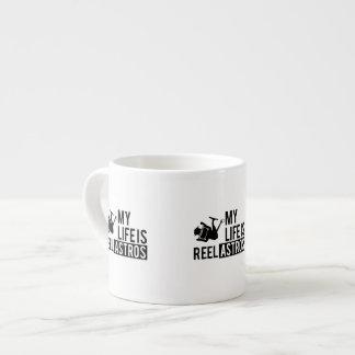 My Life Is Reel Astros Espresso Mug - Fishing gift