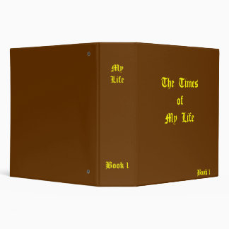 My Life Journal Vinyl Binders
