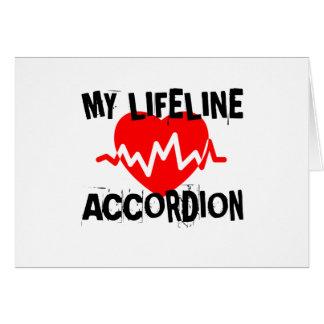 MY LIFE LINA ACCORDION MUSIC DESIGNS CARD