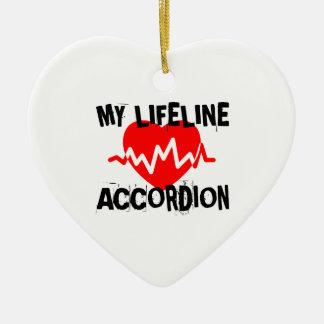 MY LIFE LINA ACCORDION MUSIC DESIGNS CERAMIC ORNAMENT