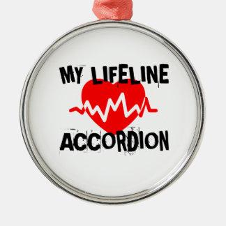 MY LIFE LINA ACCORDION MUSIC DESIGNS METAL ORNAMENT
