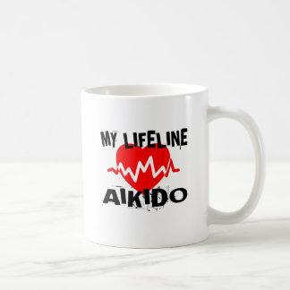 MY LIFE LINA AIKIDO MARTIAL ARTS DESIGNS COFFEE MUG