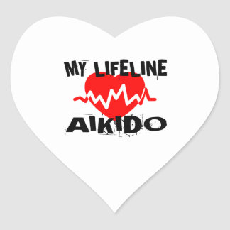 MY LIFE LINA AIKIDO MARTIAL ARTS DESIGNS HEART STICKER