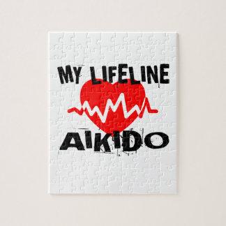 MY LIFE LINA AIKIDO MARTIAL ARTS DESIGNS JIGSAW PUZZLE