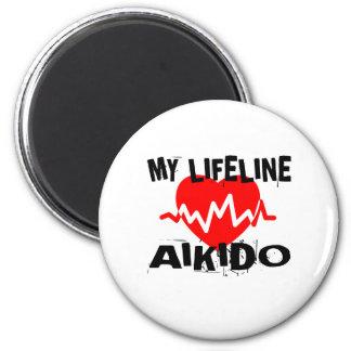 MY LIFE LINA AIKIDO MARTIAL ARTS DESIGNS MAGNET