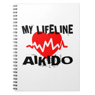 MY LIFE LINA AIKIDO MARTIAL ARTS DESIGNS NOTEBOOKS