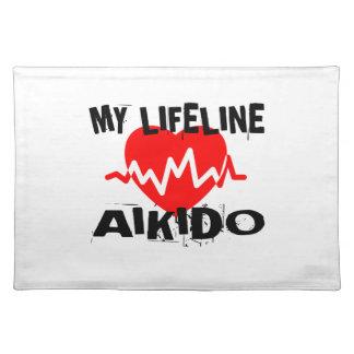 MY LIFE LINA AIKIDO MARTIAL ARTS DESIGNS PLACEMAT
