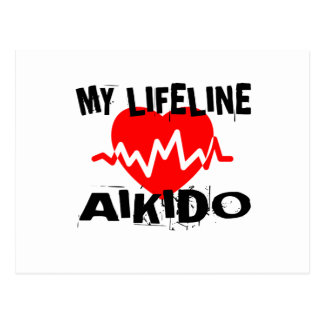 MY LIFE LINA AIKIDO MARTIAL ARTS DESIGNS POSTCARD