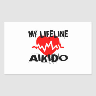MY LIFE LINA AIKIDO MARTIAL ARTS DESIGNS STICKER