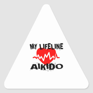 MY LIFE LINA AIKIDO MARTIAL ARTS DESIGNS TRIANGLE STICKER