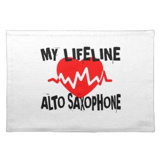 MY LIFE LINA ALTO SAXOPHONE MUSIC DESIGNS PLACEMAT
