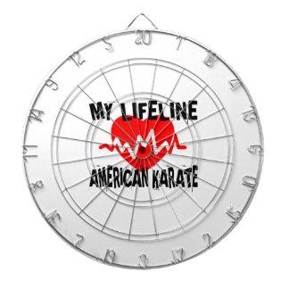 MY LIFE LINA AMERICAN KARATE MARTIAL ARTS DESIGNS DARTBOARD