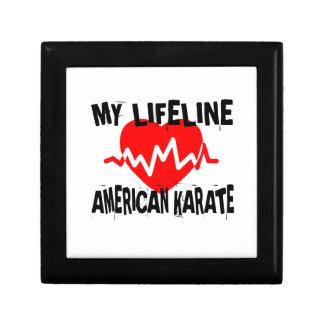 MY LIFE LINA AMERICAN KARATE MARTIAL ARTS DESIGNS GIFT BOX