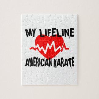 MY LIFE LINA AMERICAN KARATE MARTIAL ARTS DESIGNS JIGSAW PUZZLE