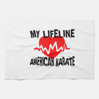 MY LIFE LINA AMERICAN KARATE MARTIAL ARTS DESIGNS KITCHEN TOWEL