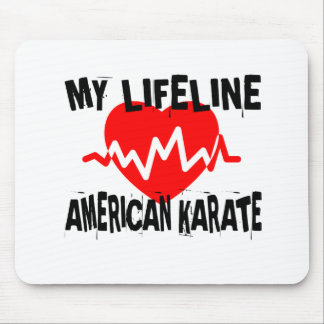 MY LIFE LINA AMERICAN KARATE MARTIAL ARTS DESIGNS MOUSE PAD