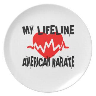 MY LIFE LINA AMERICAN KARATE MARTIAL ARTS DESIGNS PLATE