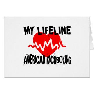 MY LIFE LINA AMERICAN KICKBOXING MARTIAL ARTS DESI CARD