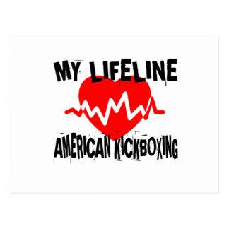 MY LIFE LINA AMERICAN KICKBOXING MARTIAL ARTS DESI POSTCARD