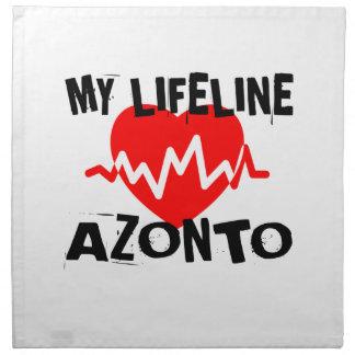 MY LIFE LINA AZONTO DANCE DESIGNS NAPKIN