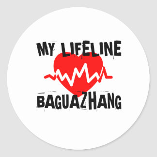 MY LIFE LINA BAGUAZHANG MARTIAL ARTS DESIGNS CLASSIC ROUND STICKER