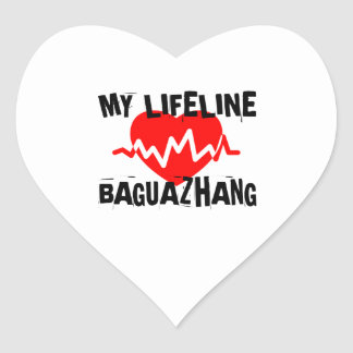 MY LIFE LINA BAGUAZHANG MARTIAL ARTS DESIGNS HEART STICKER