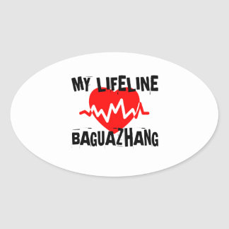 MY LIFE LINA BAGUAZHANG MARTIAL ARTS DESIGNS OVAL STICKER