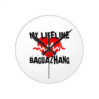 MY LIFE LINA BAGUAZHANG MARTIAL ARTS DESIGNS ROUND CLOCK