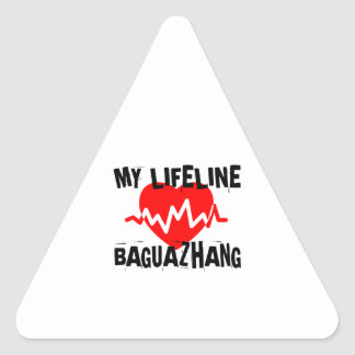 MY LIFE LINA BAGUAZHANG MARTIAL ARTS DESIGNS TRIANGLE STICKER
