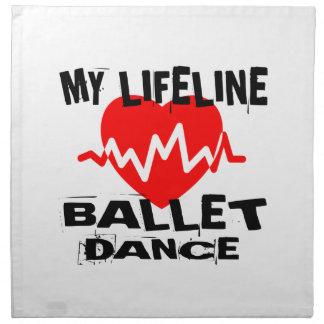 MY LIFE LINA BALLET DANCE DESIGNS NAPKIN