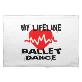 MY LIFE LINA BALLET DANCE DESIGNS PLACEMAT