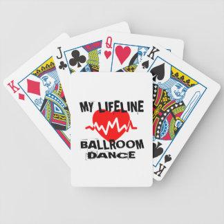 MY LIFE LINA BALLROOM DANCE DESIGNS BICYCLE PLAYING CARDS