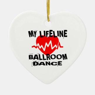 MY LIFE LINA BALLROOM DANCE DESIGNS CERAMIC ORNAMENT