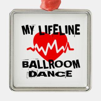MY LIFE LINA BALLROOM DANCE DESIGNS METAL ORNAMENT