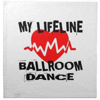MY LIFE LINA BALLROOM DANCE DESIGNS NAPKIN