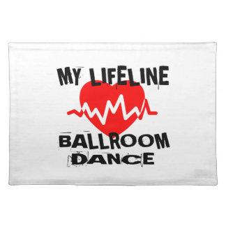 MY LIFE LINA BALLROOM DANCE DESIGNS PLACEMAT