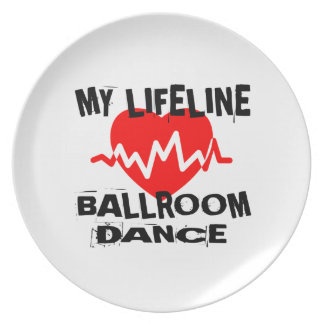 MY LIFE LINA BALLROOM DANCE DESIGNS PLATE