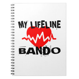MY LIFE LINA BANDO MARTIAL ARTS DESIGNS SPIRAL NOTEBOOK