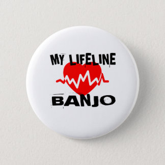 MY LIFE LINA BANJO MUSIC DESIGNS 2 INCH ROUND BUTTON