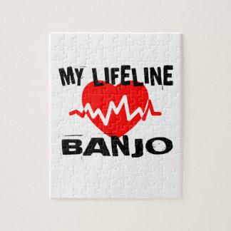 MY LIFE LINA BANJO MUSIC DESIGNS JIGSAW PUZZLE